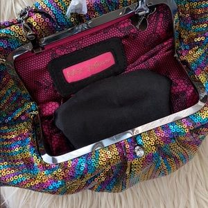 Betsy Johnson sequined bag